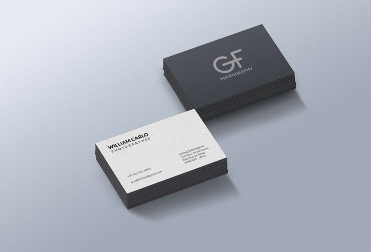 Photorealistic Business Cards Mockup Free PSD