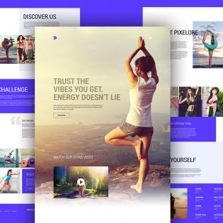 Yoga and Fitness Center Website template Free PSD