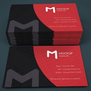 Modern Business Card Mockup Template Free PSD