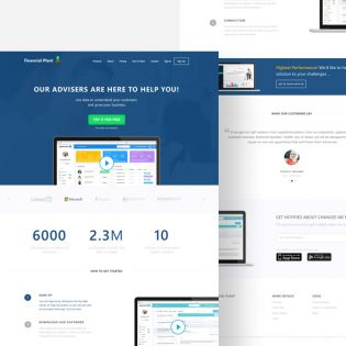 Corporate Finance Website Template Free PSD