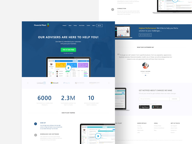 Corporate Finance Website Template Free PSD