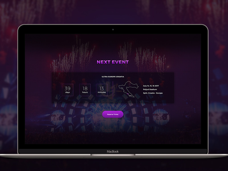 event countdown web template free psd download