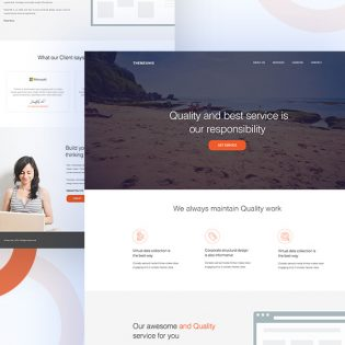 Modern Business Agency Website Template Free PSD