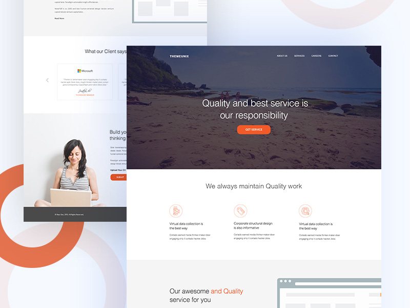 Modern Business Agency Website Template Free PSD Download - Download PSD