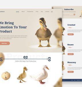Creative Business Website Template Free PSD