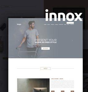 Creative Agency Portfolio Template Design PSD