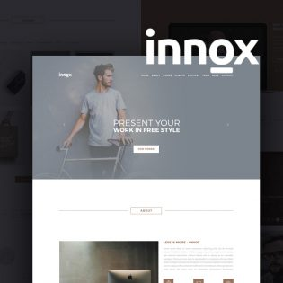 Creative Agency Portfolio Template Design PSD