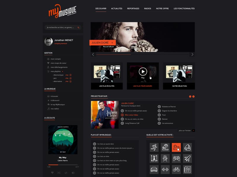 Online music application website template psd download download psd online music application website template psd www website template website layout website webpage web template web pronofoot35fo Choice Image