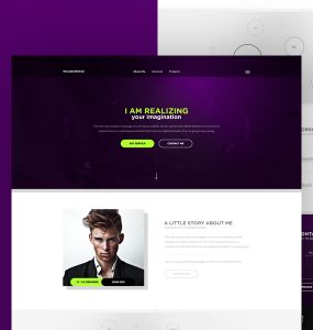 Personal Portfolio Website Theme Free PSD