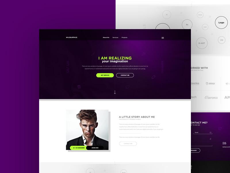 Personal Portfolio Website Theme Free PSD - Download PSD