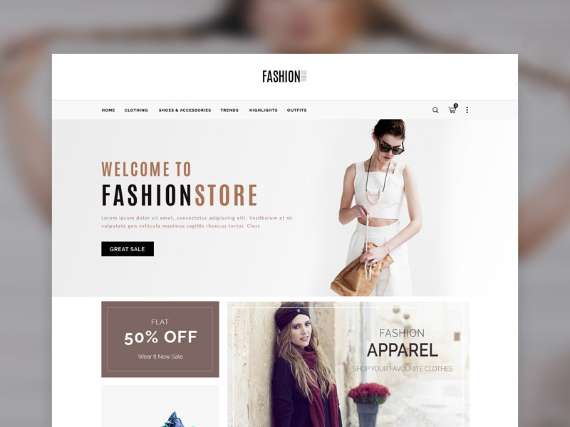 ECommerce Fashion Store Website Template PSD Download Download PSD - Fashion website templates