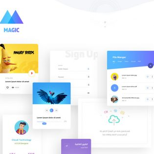 Beautiful and Modern UI Kit PSD