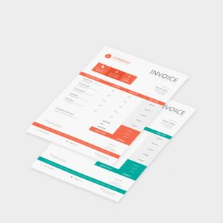 Company Invoice Template Free PSD