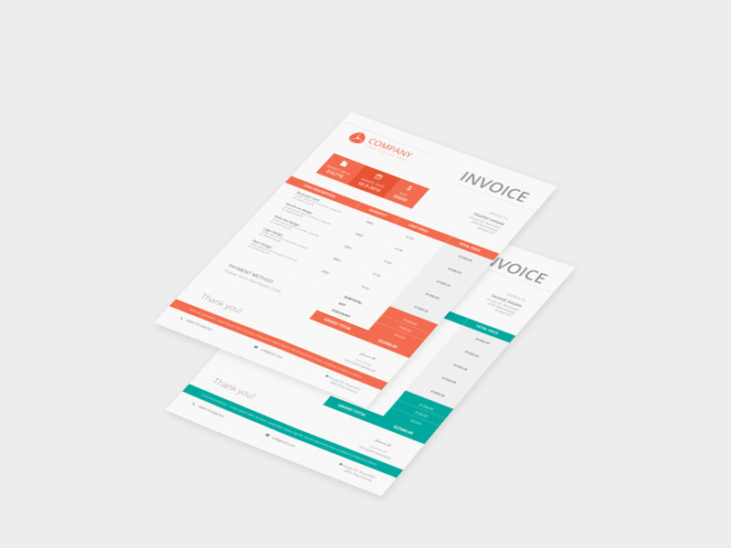 company invoice template free psd download psd