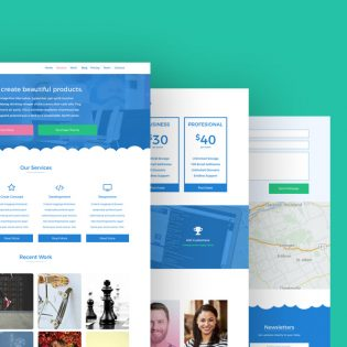 Web Design Agency Template PSD
