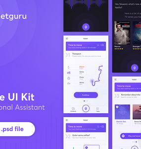 Health Assistant App UI Kit Free PSD