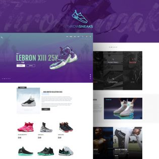 eCommerce Shoe Store Website Template Free PSD