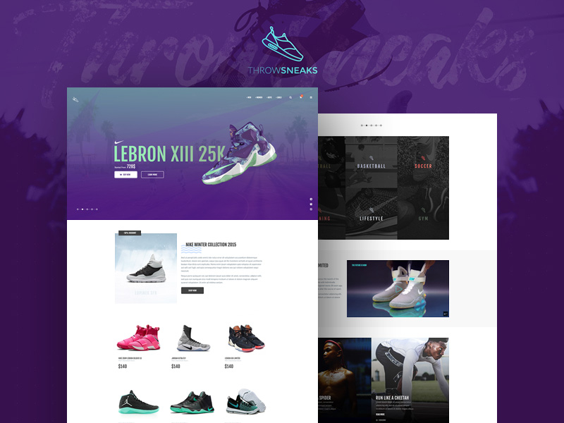 eCommerce Shoe Store Website Template Free PSD Download - Download PSD