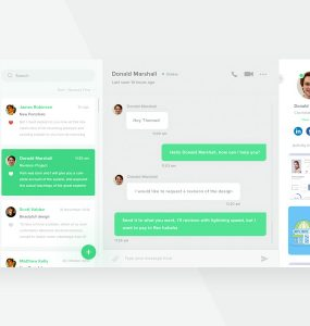 Web Messenger Application GUI Free PSD