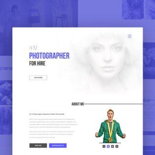 Photographer Portfolio Website Template PSD