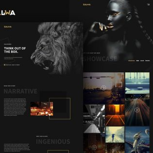 Creative Studio Website Template PSD
