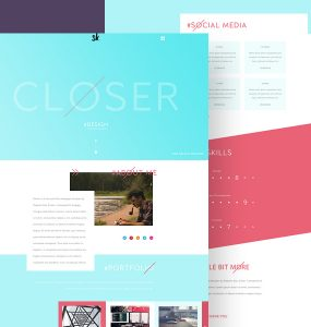 Flat and Minimalistic Portfolio Web Template PSD