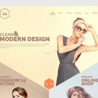 Creative Portfolio Web Template PSD