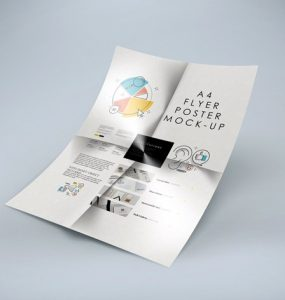 Folded A4 Flyer Mockup Free PSD studio a4, smart object, Showcase, PSD Mockups, psd mockup, psd freebie, presentation, photorealistic, mockup template, mockup psd, Mockup, mock-up, High Resolution, Free PSD, free mockup, folded, elegant, download mockup, Download, branding,