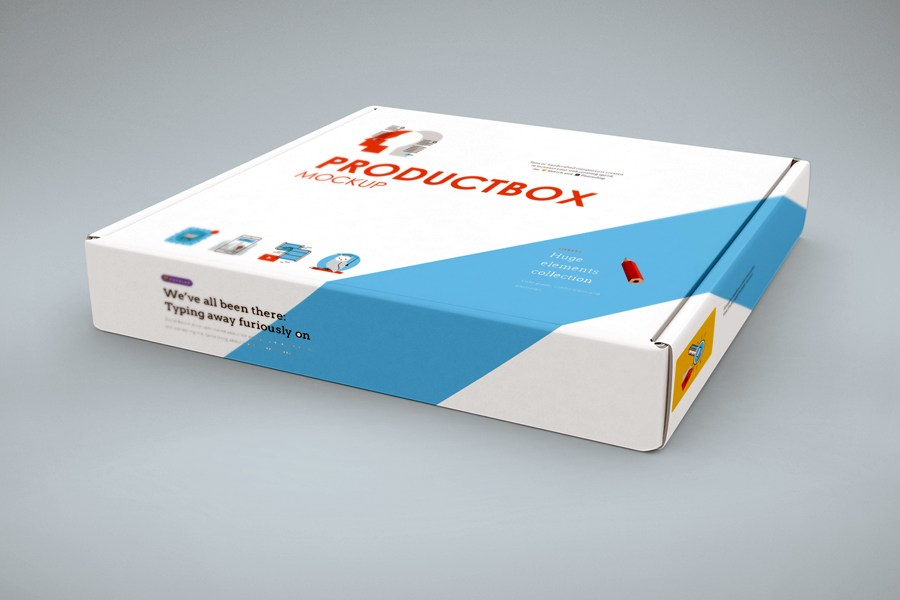 Hoziontal Box Cover Mockup Free PSD