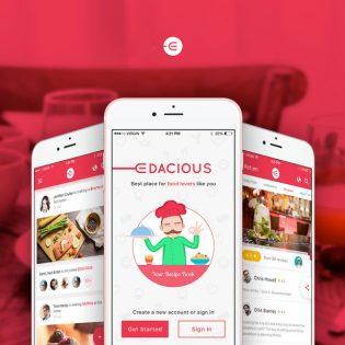 Restaurant Search App Free PSD