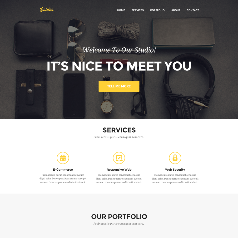 clean personal portfolio website template psd download download psd. Black Bedroom Furniture Sets. Home Design Ideas