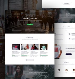 Charity Organisations Website Template Free PSD