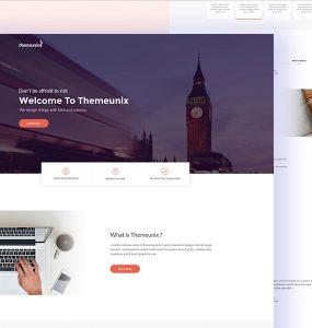 Multipurpose Corporate Website Template PSD
