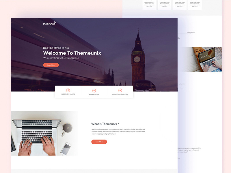 Multipurpose Corporate Website Template PSD