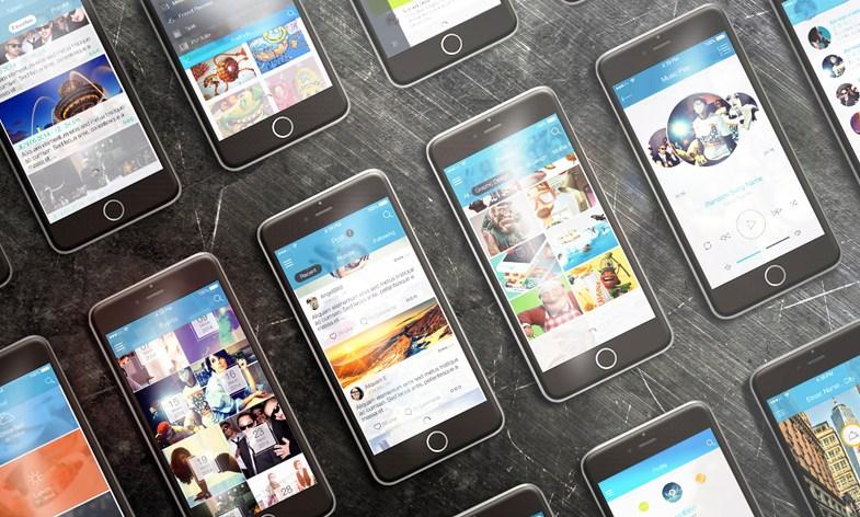 Horizontal iPhone 6 Mockup Free PSD