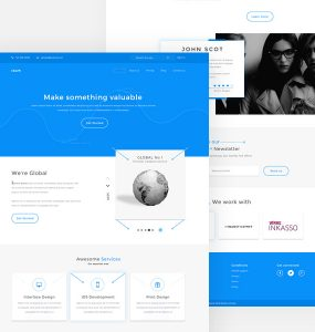 Agency Website Templates PSD