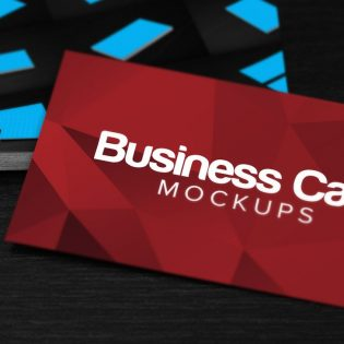 3 Business Card Mockups Free PSD