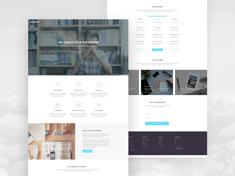 Modern Agency Landing Page Template PSD