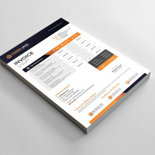Office Invoice Design Template Free PSD