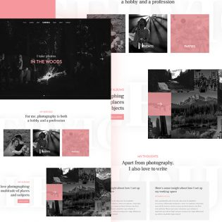 Photographer Website Template Free PSD
