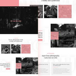 Photographer Website Template Free PSD