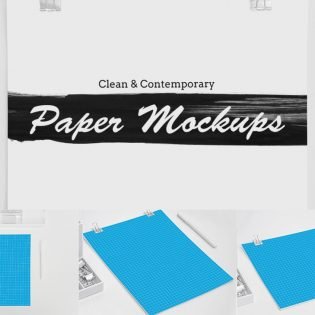 Letterhead Flyer Resume Mockup Free PSD