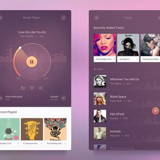 Music Player App UI Free PSD