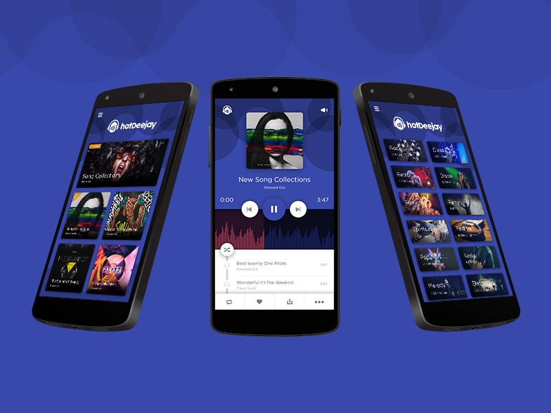Music App Free PSD