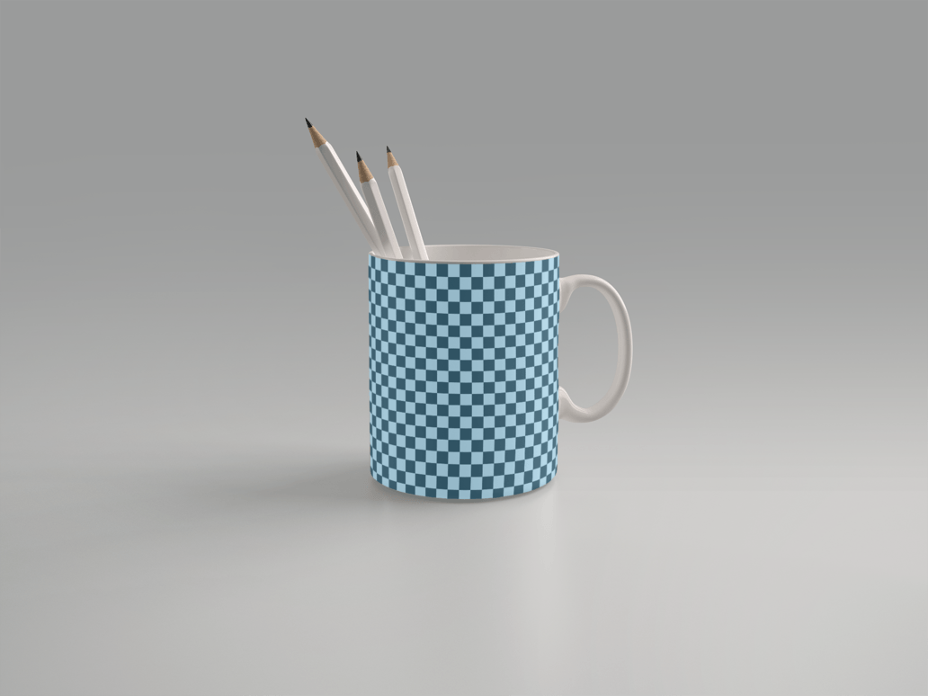 Coffee Mug Pencil Stand Mockup Free PSD