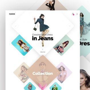 Modern Fashion Store Website Template Free PSD