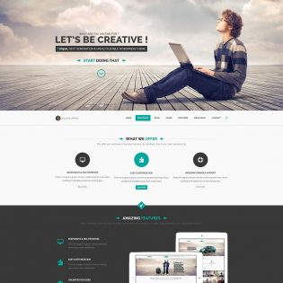 Startup Landing Page Template Free PSD