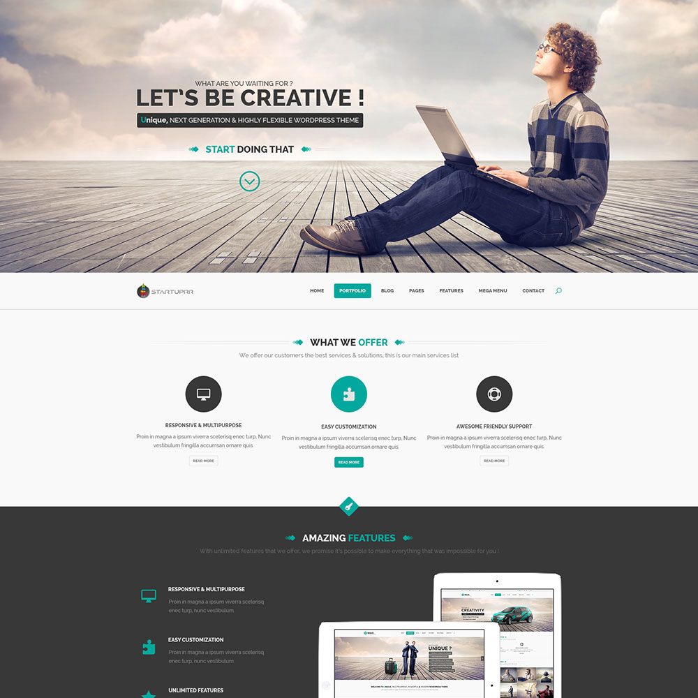 startup landing page template free psd www work white website template website - Free Templates