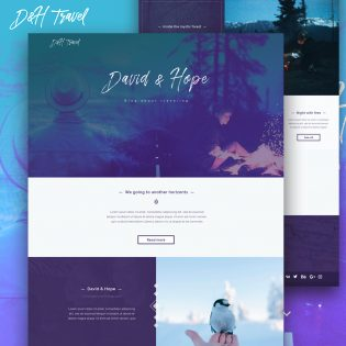 Website Template PSD for Photographers