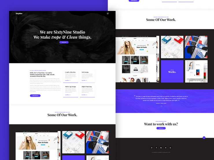 Agency Landing Page Template Free PSD